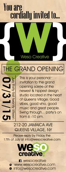 weso creative launch party invite