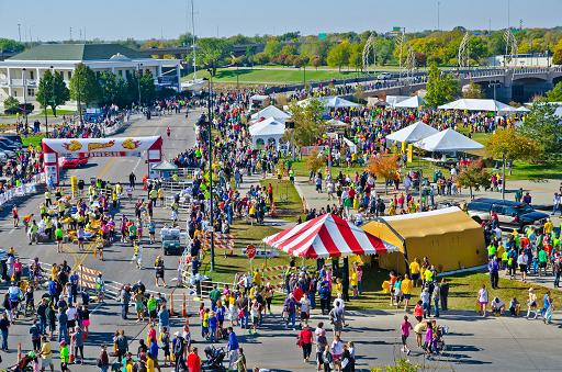 2012 Prairie Fire Marathon Finish Line/ Runnners Village!