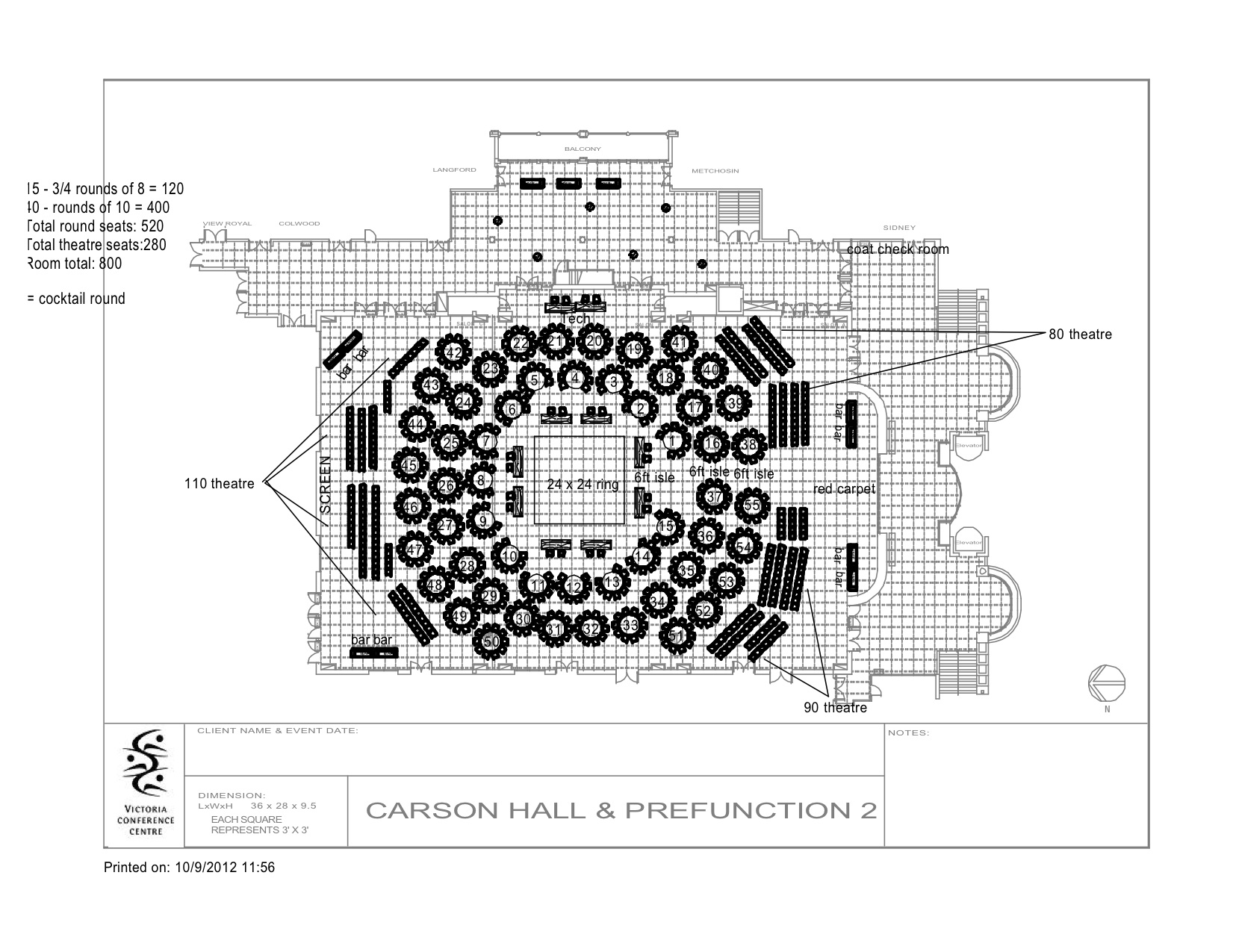 Floor Plan for Fight 4 the Cause