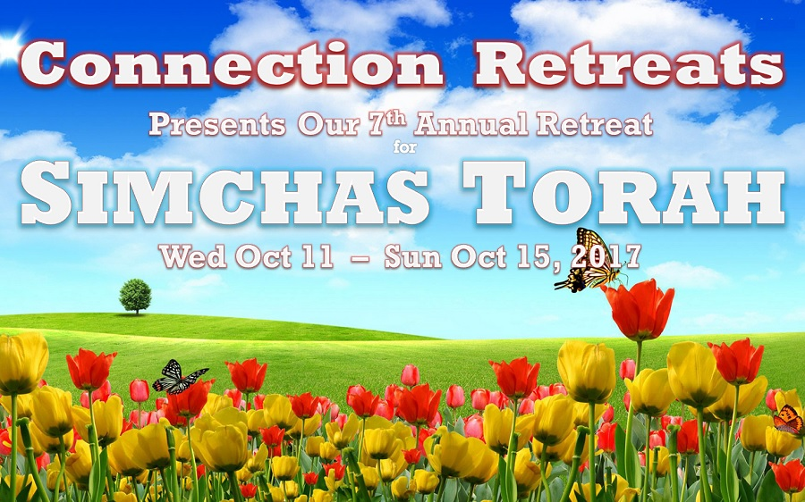 JOIN US FOR ANOTHER AMAZING SIMCHAS TORAH!  OUR 7th CONSECUTIVE SIMCHAS TORAH RETREAT!