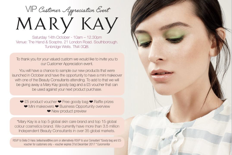 Mary Kay UK Customer Appreciation Event in Kent 14 October 2017