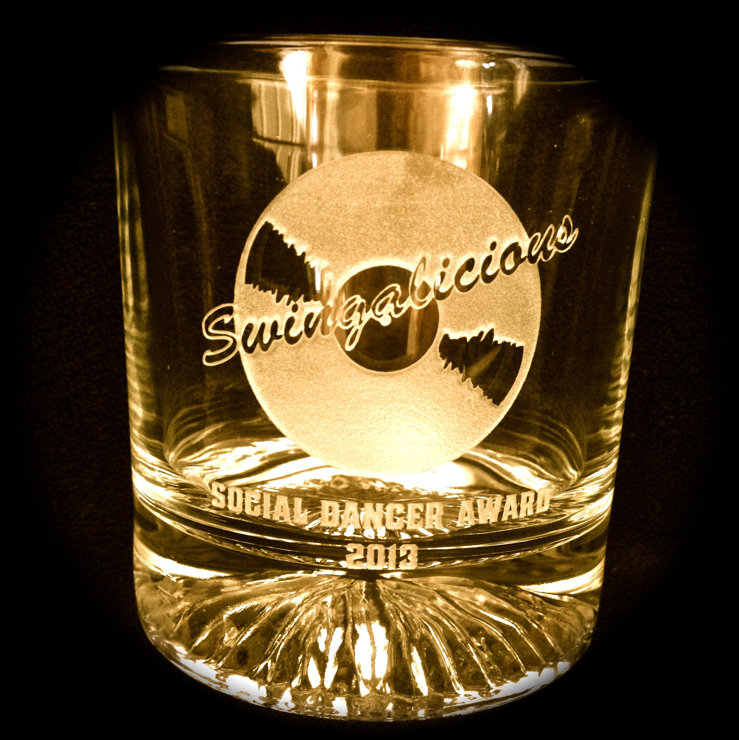 Logo Whiskey Glass