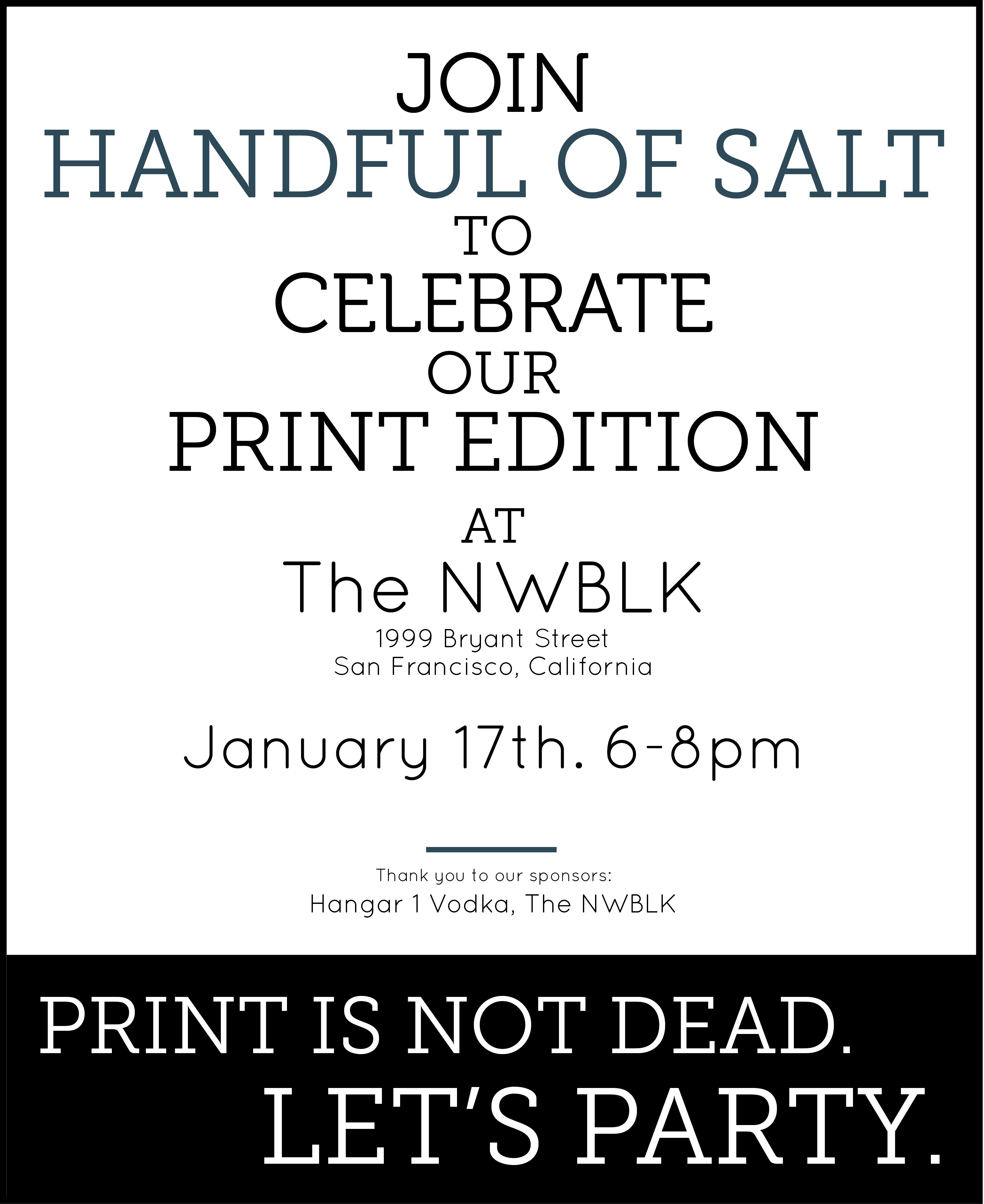 An invitation from Handful of Salt