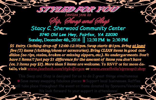Dec. 4th Sip Swap & Shop