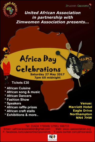 Africa Day celebrations leaflet