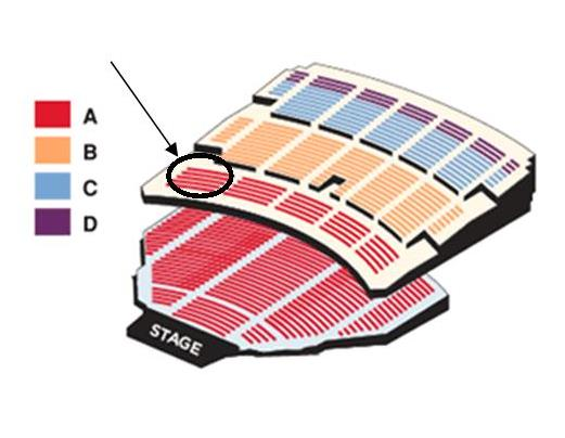 Benedum Center Seating Chart Highlighted