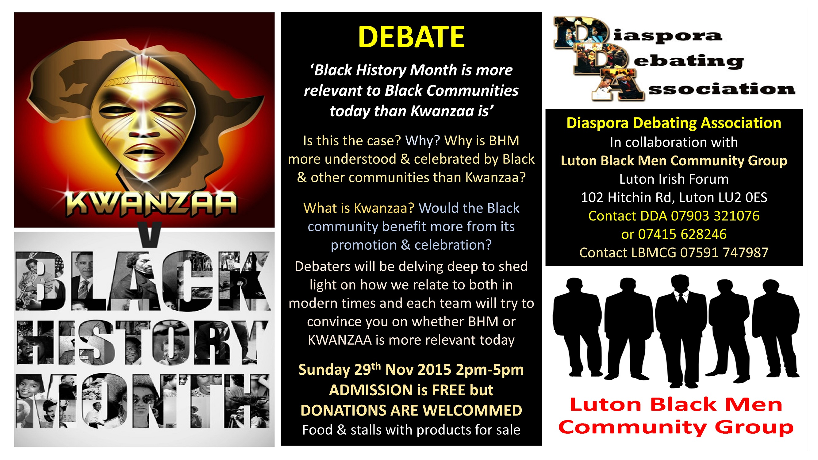 LBMCG DDA Debate LU2 0ES Sun 29th Nov 2-5pm