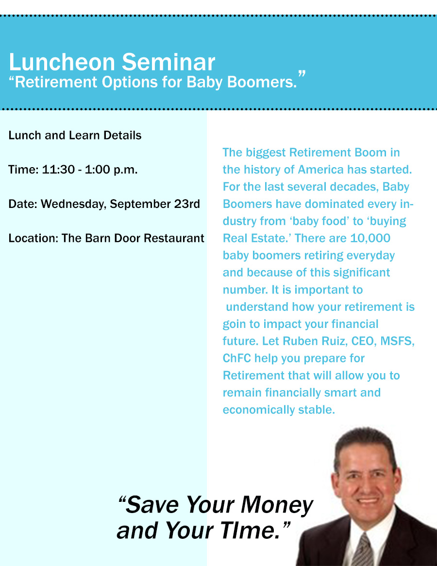 Retirement Options For Baby Boomers Tickets San Antonio