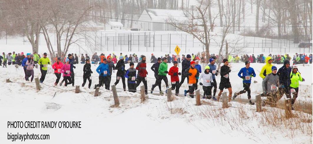 Lake Waramaug Polar Bear Run Start