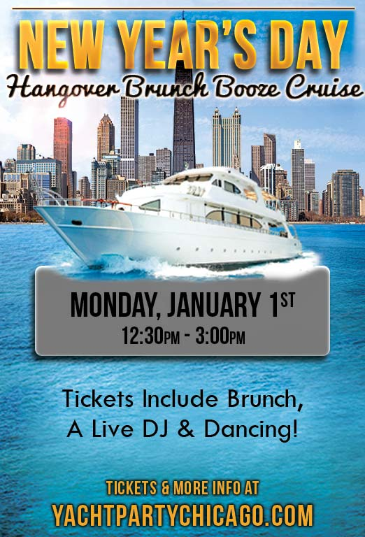 New Year's Day Brunch Booze Cruise Party - Tickets include Brunch, a Live DJ, Dancing, and the best views of the Chicago skyline!