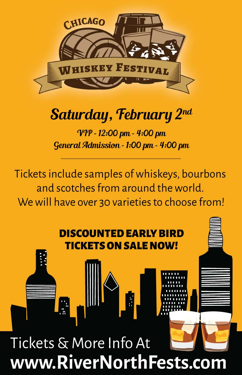 Chicago Whiskey Festival Whiskey Tasting Party - Taste a variety of whiskeys, bourbons & scotches! We will have over 30 varieties to choose from!