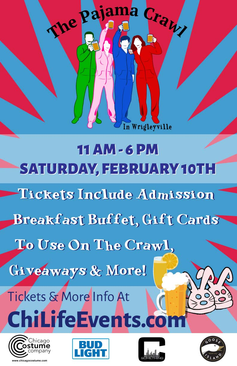 The Pajama Crawl in Chicago - Tickets include a Breakfast Buffet, Gift Cards to Use on the Crawl, Giveaways & MORE!