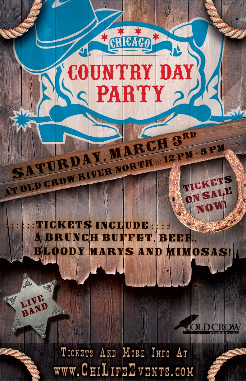 Country Day Brunch Party - Tickets include a brunch buffet from 12pm-2pm & beer, bloodies, and mimosas from 12pm-3pm.