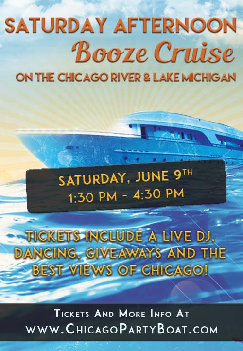 Come out on our luxury yacht for a cruise on Lake Michigan and the Chicago River! Tickets include a Live DJ, Dancing, Giveaways, and the best views of Chicago!