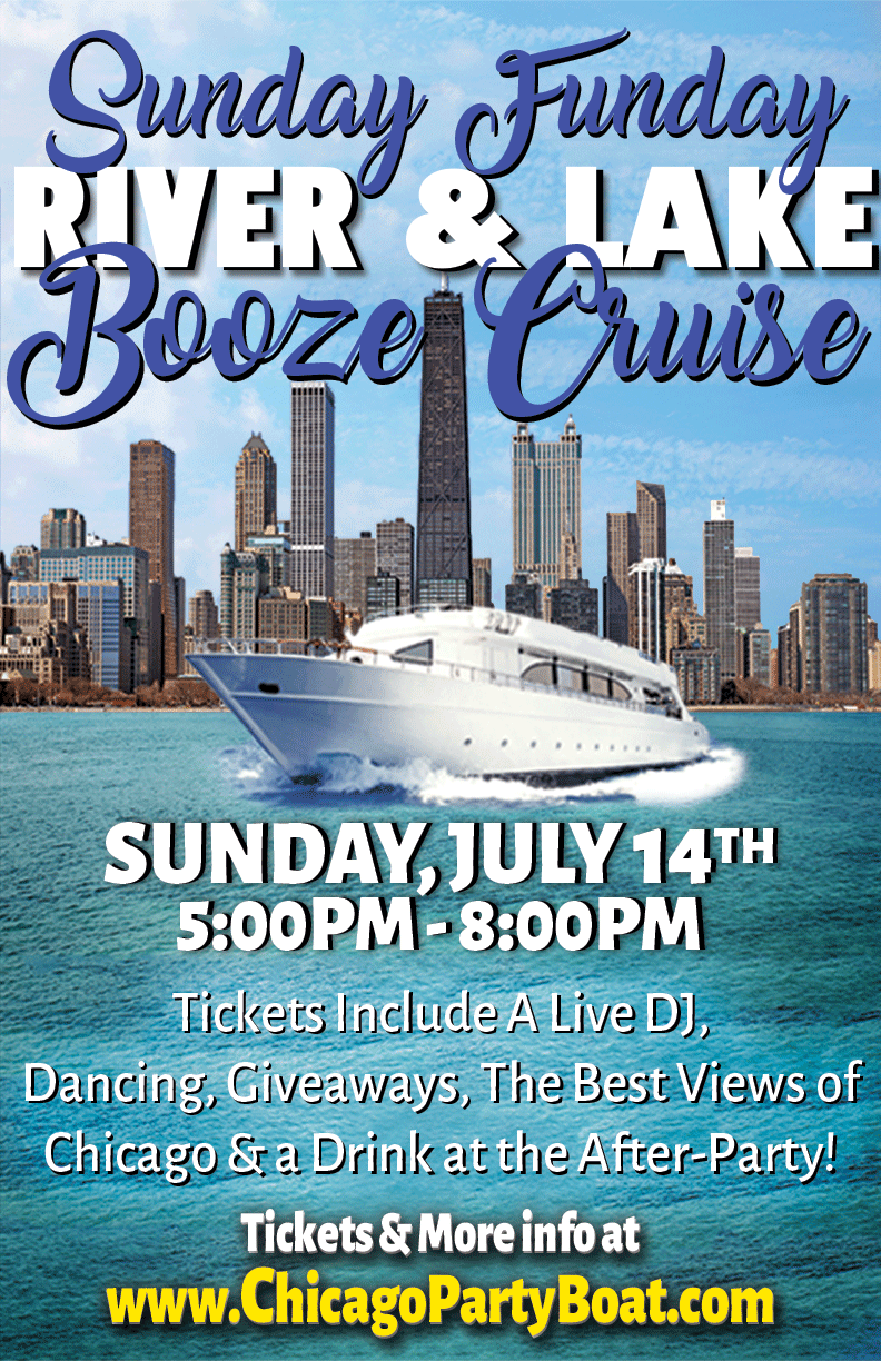 Sunday Funday Booze Cruise Party - Tickets include a Live DJ, Dancing, Giveaways and the Best Views of Chicago!