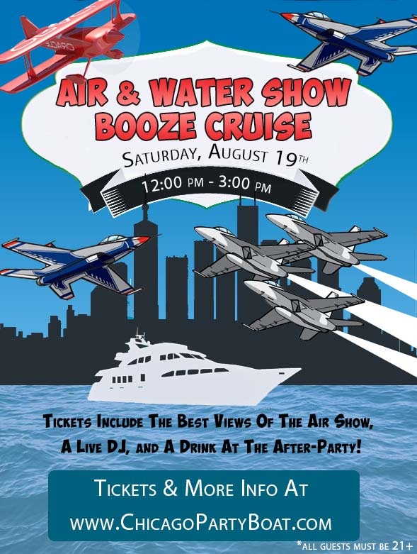 Air & Water Show Booze Cruise Party - Tickets include a Live DJ, Dancing, and A Drink At The After-Party!