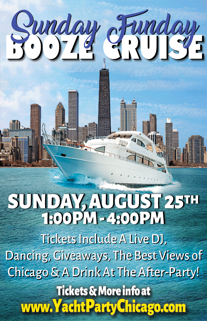 Sunday Funday Booze Cruise Party on Lake Michigan - Tickets include a Live DJ, Dancing, Giveaways, the Best Views of Chicago and a Drink at the After-Party!!