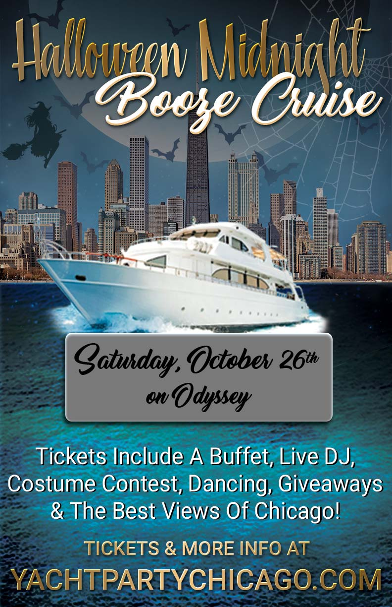 Halloween Midnight Booze Cruise Party - Tickets include a Buffet, Live DJ, Dancing, Giveaways, a Costume Contest, and the best views of Chicago!
