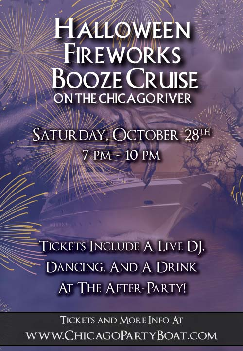 Halloween Fireworks Booze Cruise Party - Tickets include a Live DJ, Dancing, and A Drink At The After-Party!