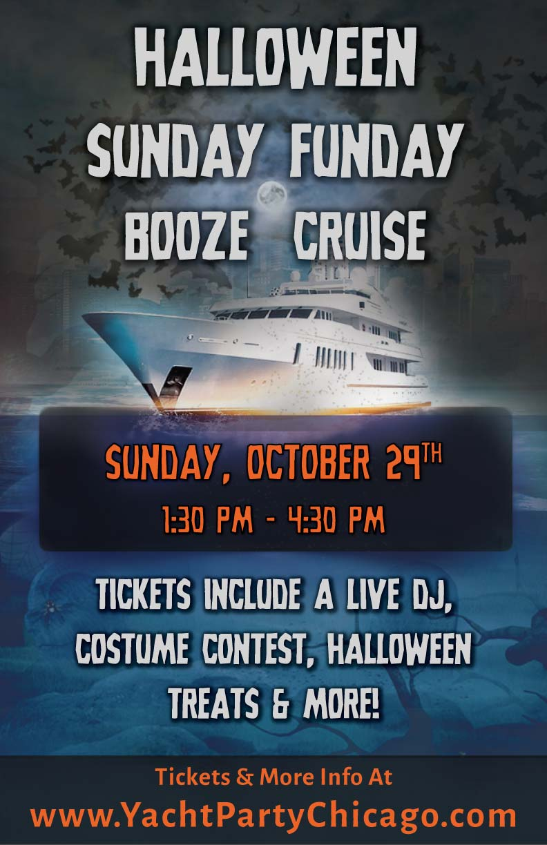 Halloween Sunday Funday Booze Cruise Party - Tickets include a Live DJ, Dancing, Costume Contest, Halloween Treats and More!