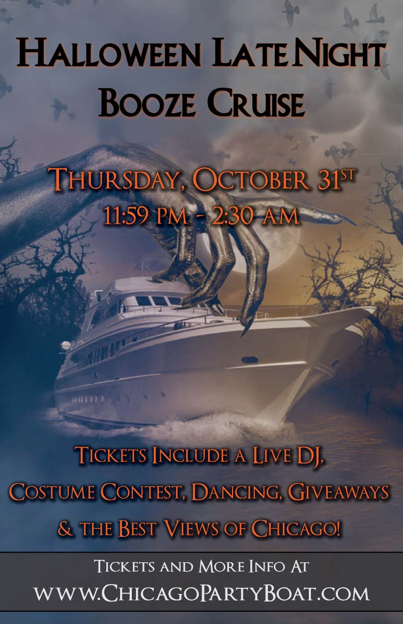 Halloween Late Night Booze Cruise Party - Tickets include a Live DJ, Dancing, Giveaways & the best views of Chicago!