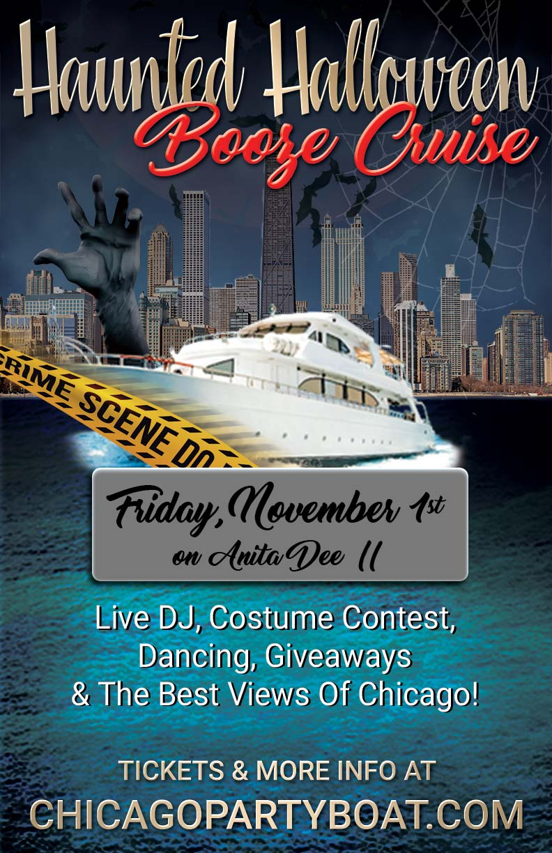 Haunted Halloween Booze Cruise Party - Tickets include a Live DJ, Dancing, Giveaways, a Costume Contest, and the Best Views of Chicago!