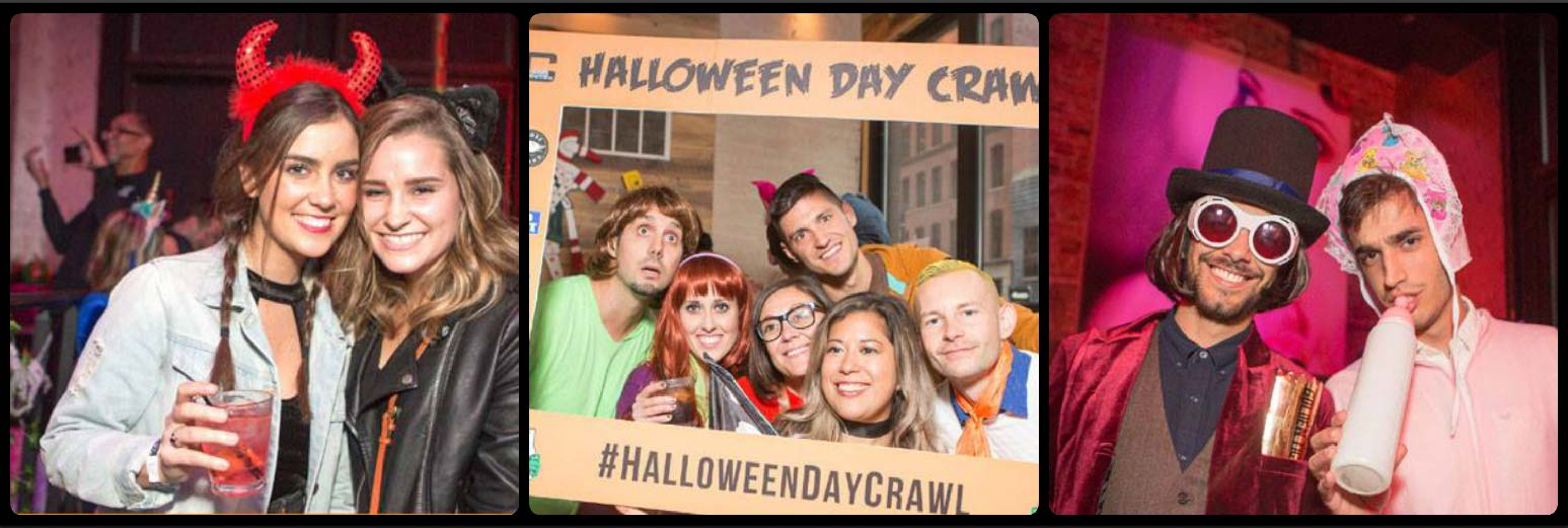 Halloween Day Crawl Picture Collage