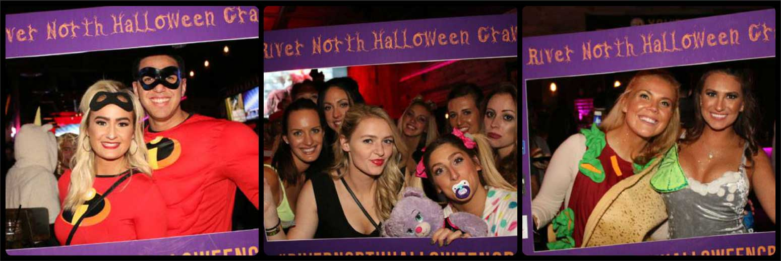 River North Halloween Crawl Picture Collage