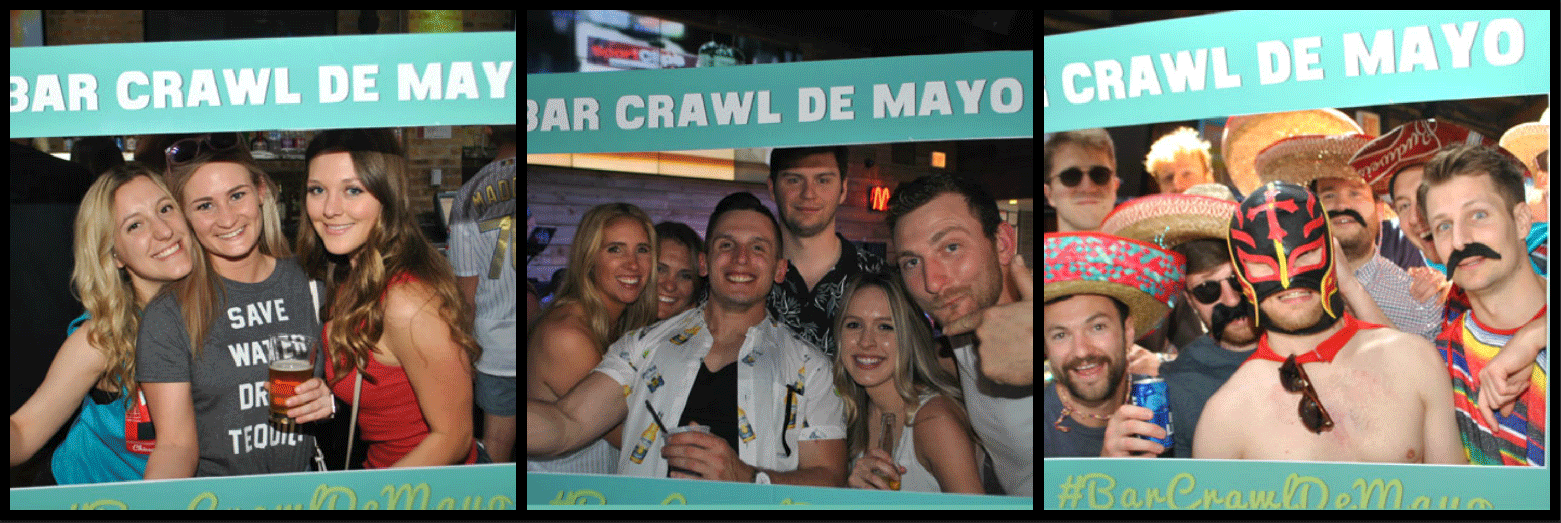 Bar Crawl De Mayo Picture Collage