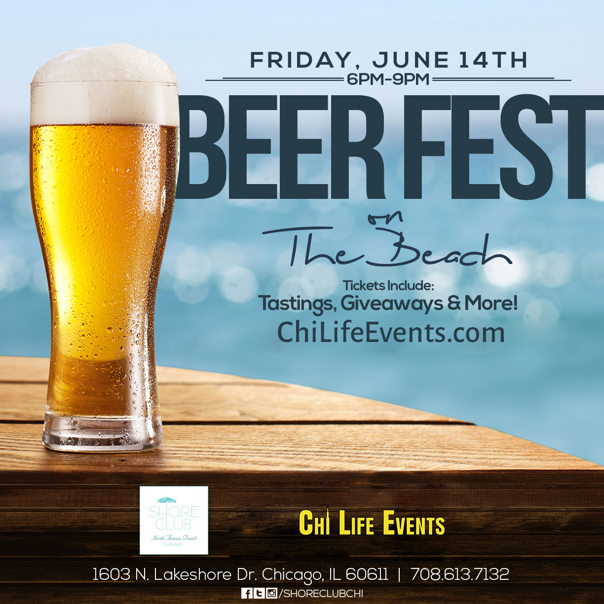 Beer Festival and Tasting at Northe Avenue Beach - Tickets include beer tastings, giveaways & MORE! We will have a variety of different beers available for sampling!