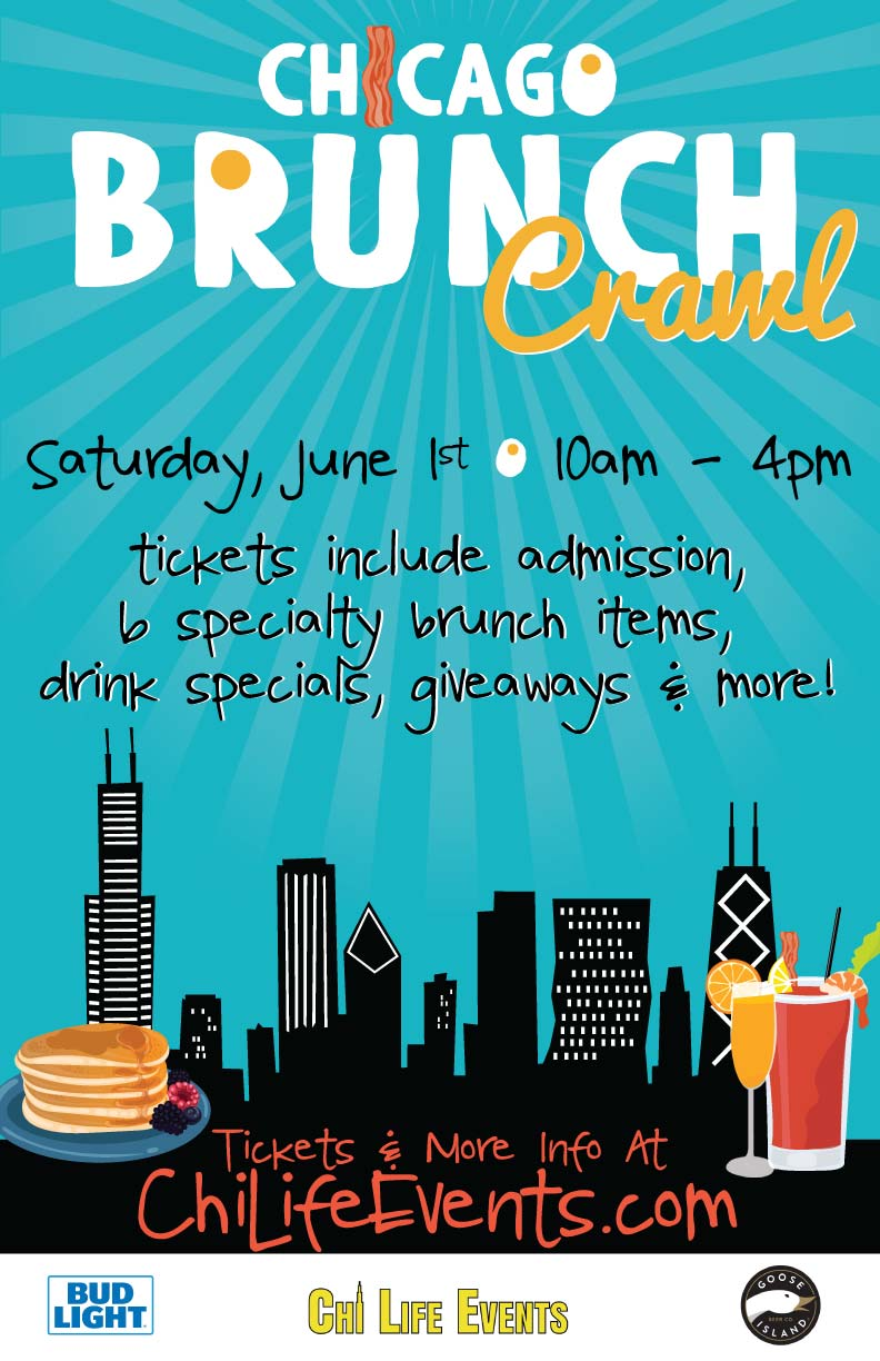 Chicago Brunch Bar Crawl Party - Tickets include Admission, 6 Specialty Brunch Items, Drink Specials, Giveaways & More!