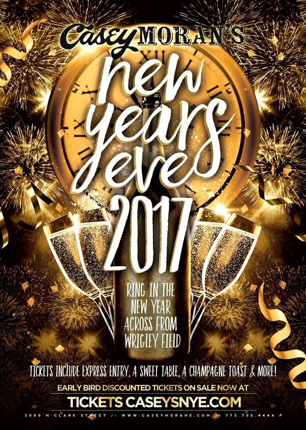 Casey Moran's New Year's Eve Party - Ring In The New Year Across From Wrigley Field! Tickets Include Express Entry, A Sweet Table, A Champagne Toast & More!