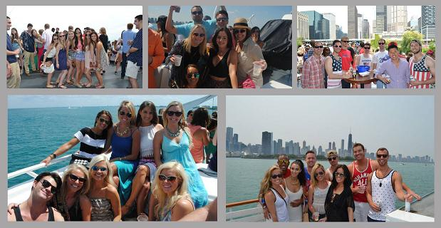 Chicago Afternoon Booze Cruise Collage