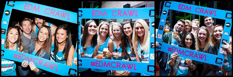 EDM (Electronic Dance Music) Bar Crawl Picture Collage