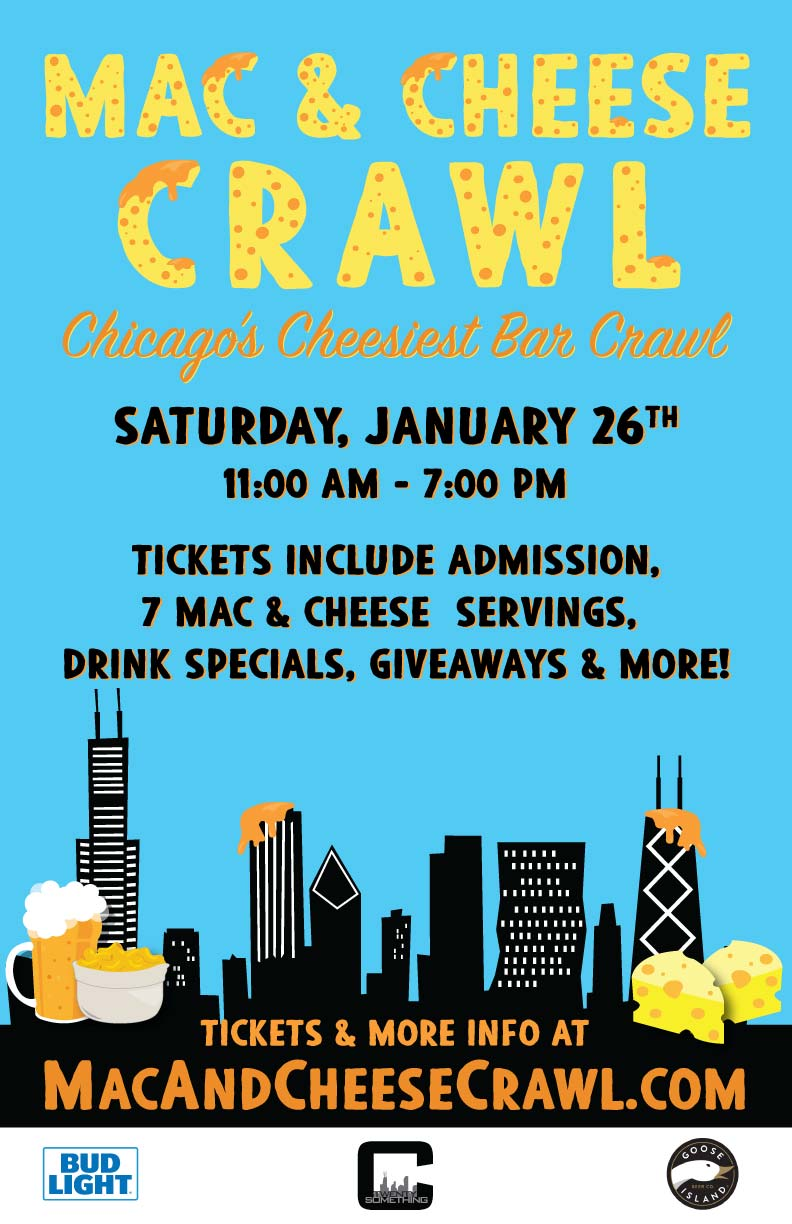 Mac & Cheese Bar Crawl Party - Tickets Include Admission, 7 Mac and Cheese servings, Drink Specials, Giveaways & More!