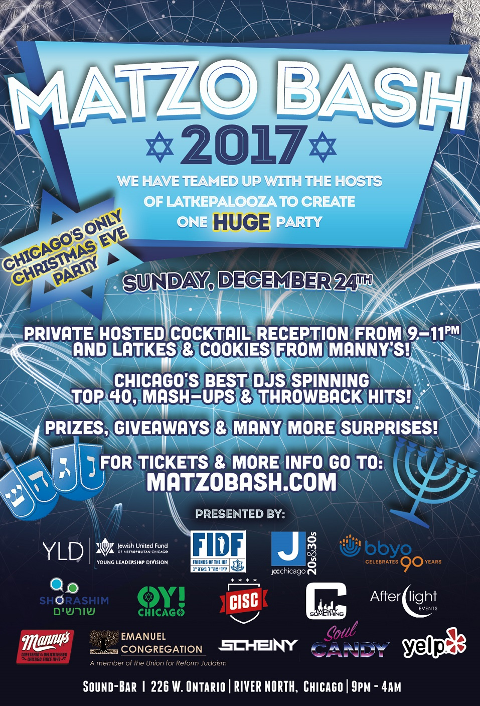 Matzobash 2017 Event Flyer!