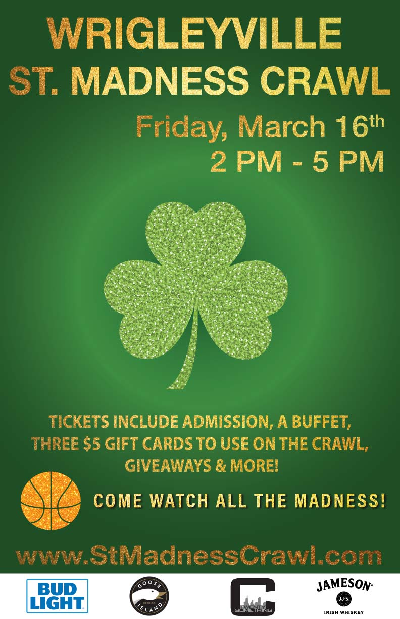 St. Madness Bar Crawl Party - St. Patrick's Day and March Madness Combined! - Tickets include a Buffet, three $5 Gift Cards to use on the Crawl, Giveaways & MORE!