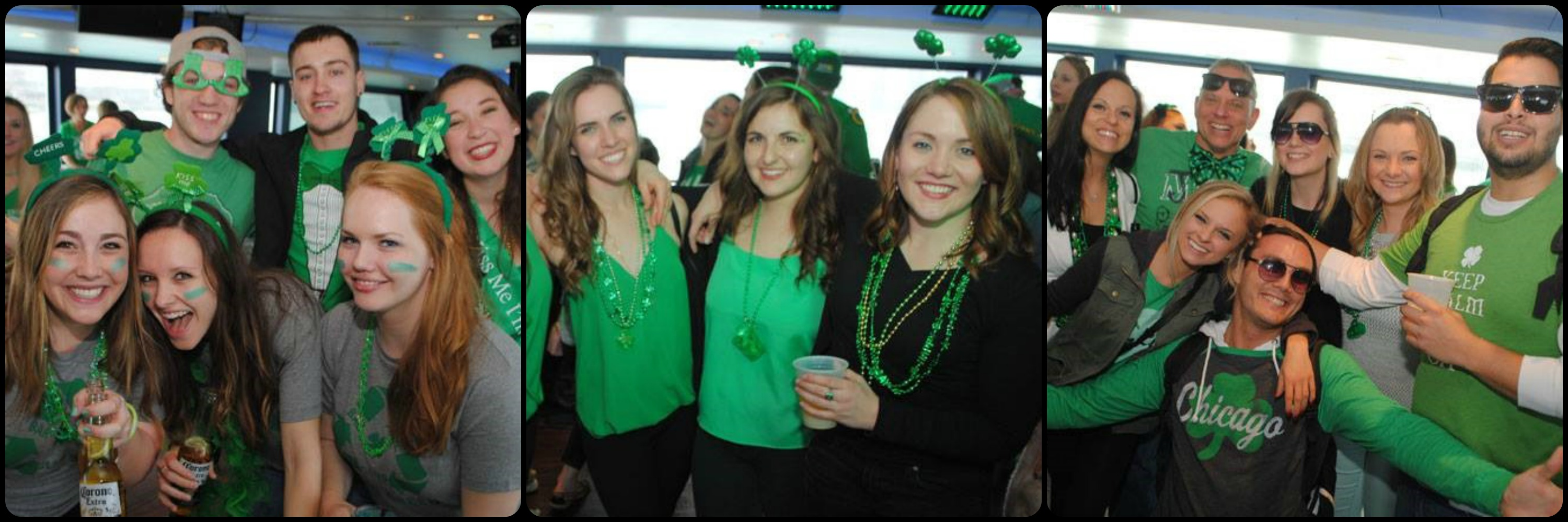 St. Patrick's Day Booze Cruise Picture Collage