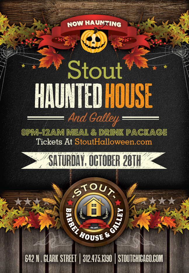Stout Barrel House Chicago - Halloween Party - Tickets include an 8pm-12am call package with express entry before 11pm!