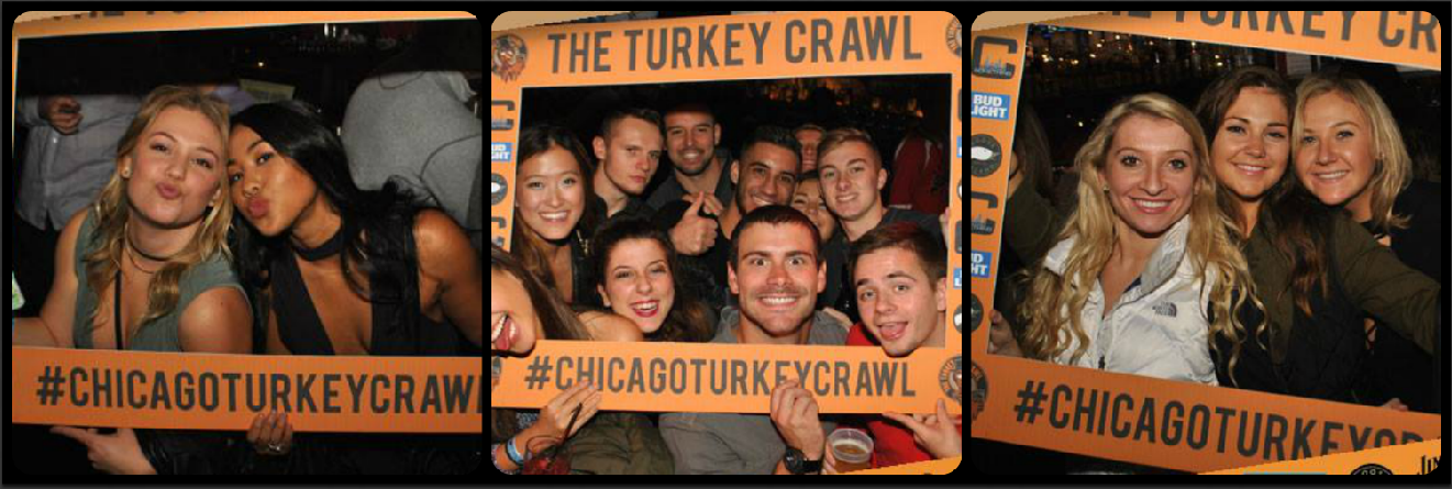 Chicago Turkey Crawl Picture Collage