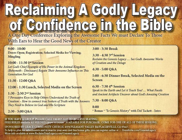 Genesis Legacy Agenda