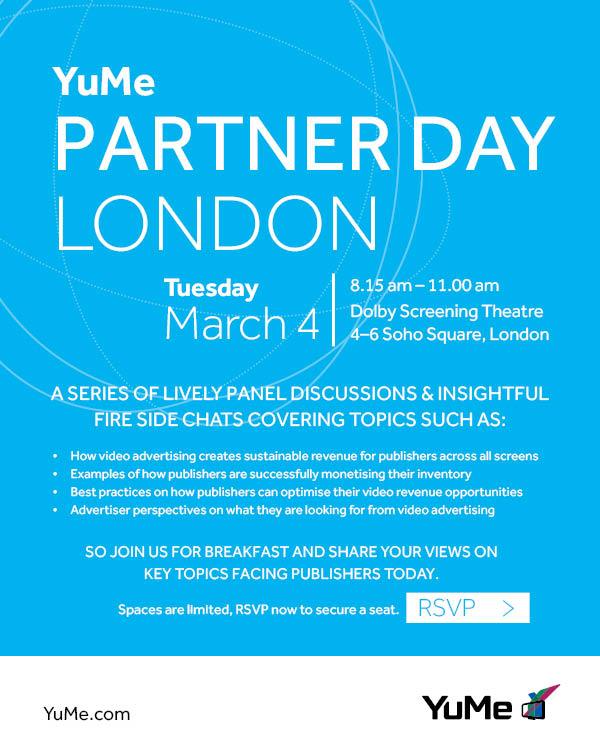 YuMe Partner Day   London