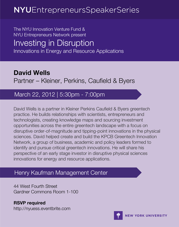 david wells kleiner perkins