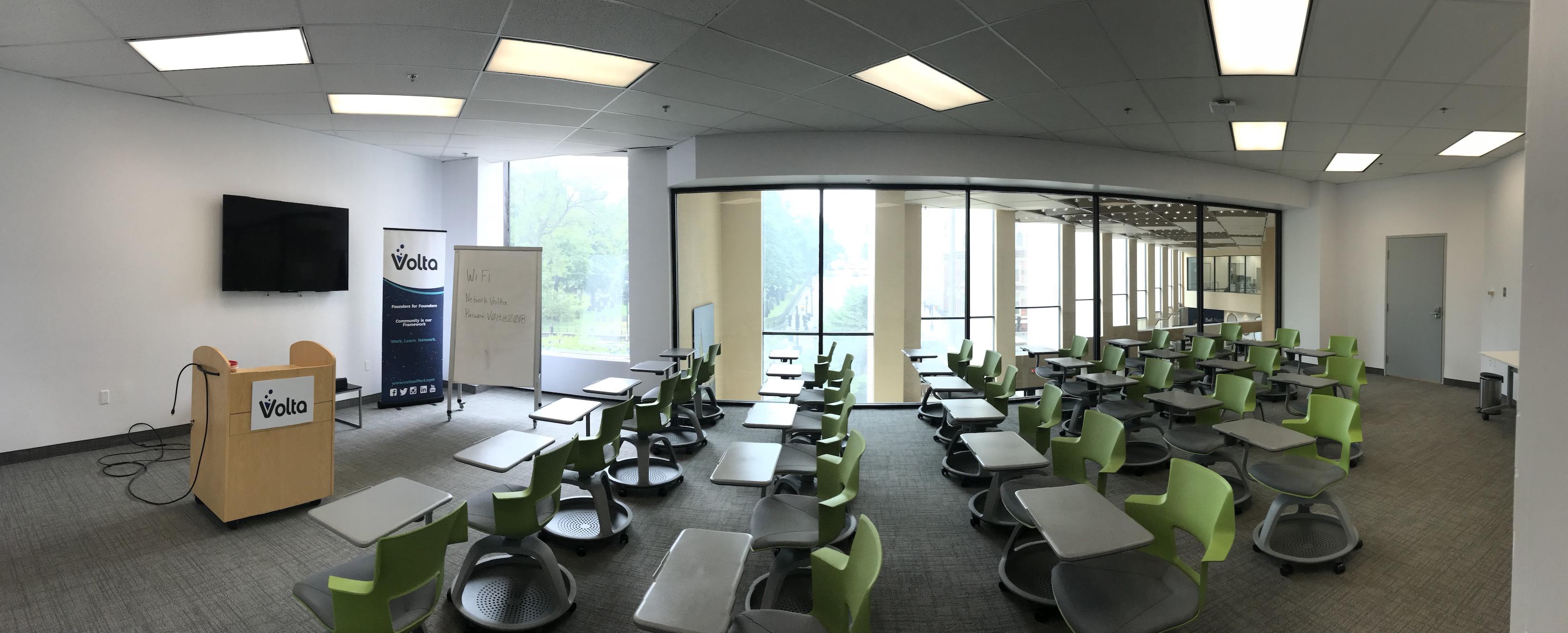 Mezzanine classroom