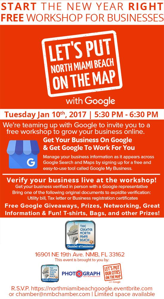 Free Google Seminar at North Miami Beach Chamber of Commerce