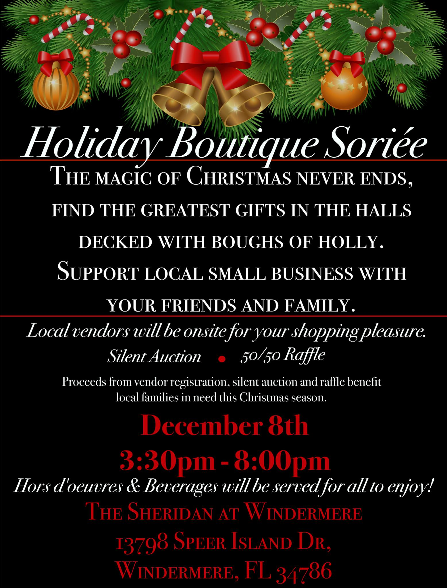 Holiday Boutique Soriee Invitation