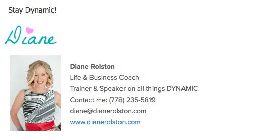 Diane Rolston Email signature