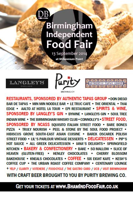 Birmingham Independent Food Fair line-up
