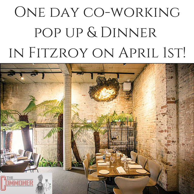 one day co working pop up and dinner