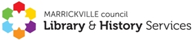 Marrickville Library and History Services logo